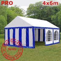 Шатер Giza Garden 4 x6м сине белый PRO (высота стенок 2.4м./в коньке: 3.7м)