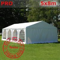 Шатер Giza Garden 5 x8м белый PRO (высота стенок 2.4м./в коньке: 3.7м)