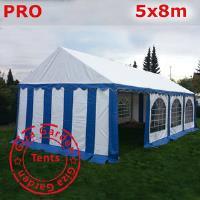 Шатер Giza Garden 5 x8м сине белый PRO (высота стенок 2.4м./в коньке: 3.7м)