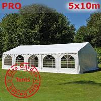 Шатер Giza Garden 5 x10м белый PRO (высота стенок 2.4м./в коньке: 3.7м)