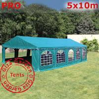 Шатер Giza Garden 5 x10м зеленый PRO (высота стенок 2.4м./в коньке: 3.7м)