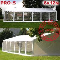 Шатер Giza Garden 6 x12м прозрачный PRO-S (высота стенок 2.4м./в коньке: 3.7м)