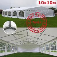Шатер павильон Giza Garden 10 x10м белый PRO (высота стенок 2.4м./в коньке: 3.7м)