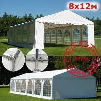 Шатер павильон Giza Garden 8 x12м белый PRO (высота стенок 2м./в коньке: 3.5м)