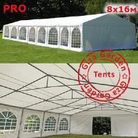 Шатер павильон Giza Garden 8 x16м белый PRO (высота стенок 3м./в коньке: 4.2м)