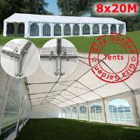 Шатер павильон Giza Garden 8 x20м  белый PRO (высота стенок 2.2м./в коньке: 4.2м)
