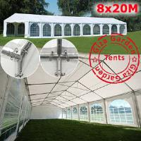 Шатер павильон Giza Garden 8 x20м  белый PRO (высота стенок 3м./в коньке: 4.2м)