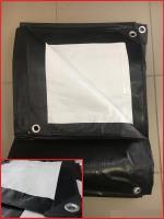Тент Тарпаулин 8х12м плотность 230 г/м.кв (черно-белый)