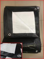 Тент Тарпаулин 10х20м плотность 230 г/м.кв (черно-белый)