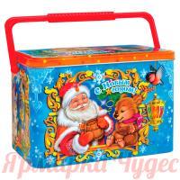 Подарок новогодний сладкий Почтовый сундучок 1000гр конфет в жестяном сундучке + мастер-класс ЕРАЛАШ