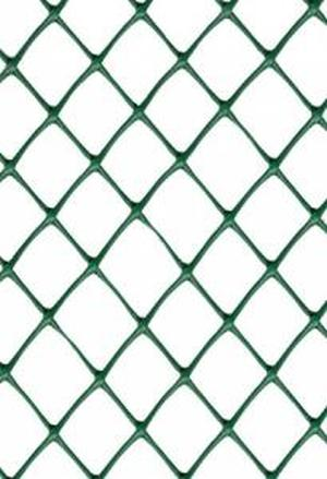 Заборная решетка пластиковая З-40 1,5*25м, ячейка 40*40мм (Хаки)