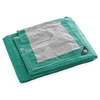 Тент Тарпаулин 4х25м плотность120г/м.кв (зел-сереб) (цена за 1 м. кв)