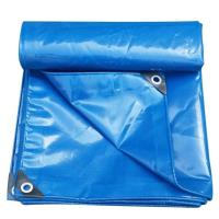 Тент с люверсами ПВХ 3*6м плотность 650г/м2 Двухсторонний (синий) (цена за 1 м. кв)