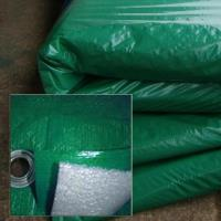 Полог тарпаулин зеленый 120 гр. 4х10м. утепленный (изолон 5 мм) м2 (цена за 1 м. кв)