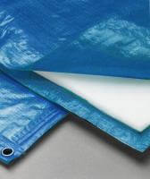 Полог тарпаулин синий 180 гр. 4х6м. утепленный (изолон 5 мм) м2 (цена за 1 м. кв)