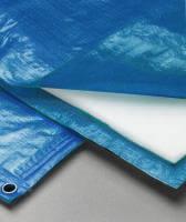 Полог тарпаулин синий 180 гр. 4х10м. утепленный (изолон 5 мм) м2 (цена за 1 м. кв)