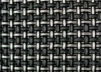Дизайнерский сеточный экран TEXSTYLE PRIVE 1х5 метров (черная) 700 г/м2