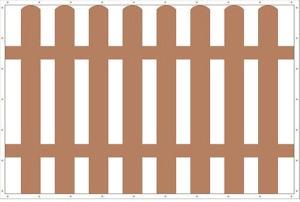 """строительное ограждение баннерная сетка """"ШТАКЕТНИК"""" 1,5х2,0 (3кв.м. 320гр/м)"""