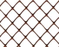 Заборная решетка пластиковая З-40 1,5*10м, ячейка 40*40мм (Коричневый)
