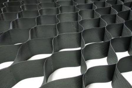 Георешетка объемная ОР/С-5/210 (высота 5см, ячейка 21х21см, размер 2,75 х 6м = 16,5м2) (Черный)