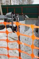 Стойка металлическая для крепления сеток 1,3м (черная)