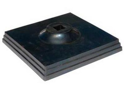 Подставка резиновая для вехи сигнальной (черная)