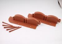 Бордюр пластиковый для клумб 'Волна' 2,56м с креплениями (Коричневый)