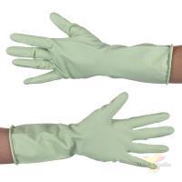 Перчатки латексные с хлопковым напылением, олива, р-р XL
