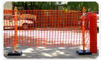 Сетка оградительная сигнальная пластиковая1х50м (100г) Барьер оранжевая