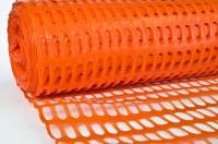 Сетка пластиковая оградительная БАРЬЕР 1,2х50м (100г) оранжевая
