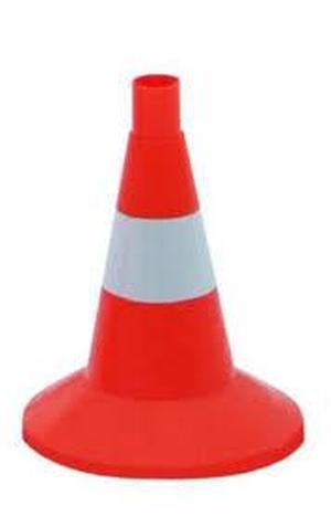 Конус дорожный сигнальный 320мм оранжевый с 1 светоотражающей белой полосой