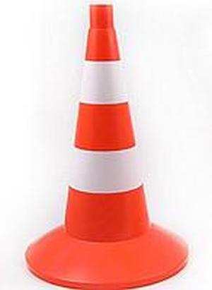 Конус сигнальный оградительный 520мм оранжевый с 2 светоотражающими полосами