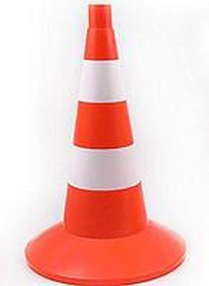 Дорожная фишка 520мм оранжевая с 2 светоотражающими полосами