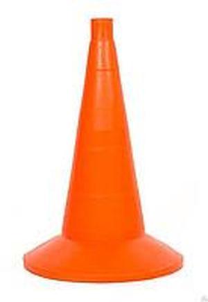 Конус дорожный сигнальный 520мм с утяжелителем оранжевый