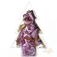 Набор новогодних украшений в упаковке, 25 штук