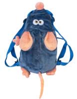 Подарок новогодний сладкий Рюкзак Бисквит 1000гр конфет в плюшевой игрушке-рюкзаке Мышь символ года!