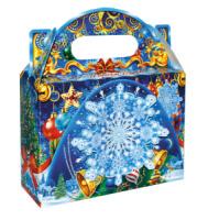 Подарок новогодний сладкий Кристаллик набор конфет c игрушкой-снежинкой